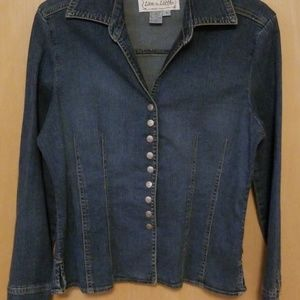 Live a Little S faded denim jacket